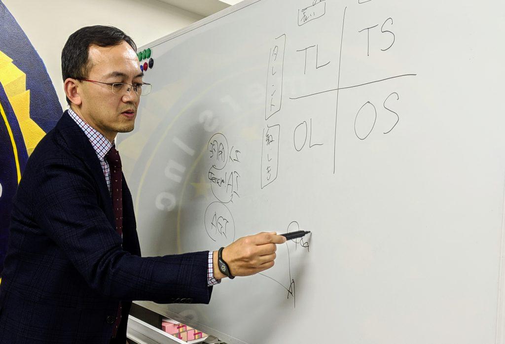 4象限で人材のポートフォリオを解説する藤井氏